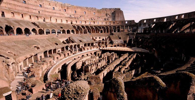 ROME ANCIENT COLOSSEUM INSIDE
