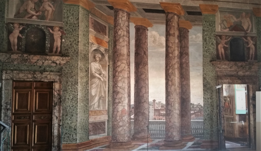 ROME FARNESINA TROMPE L OEIL