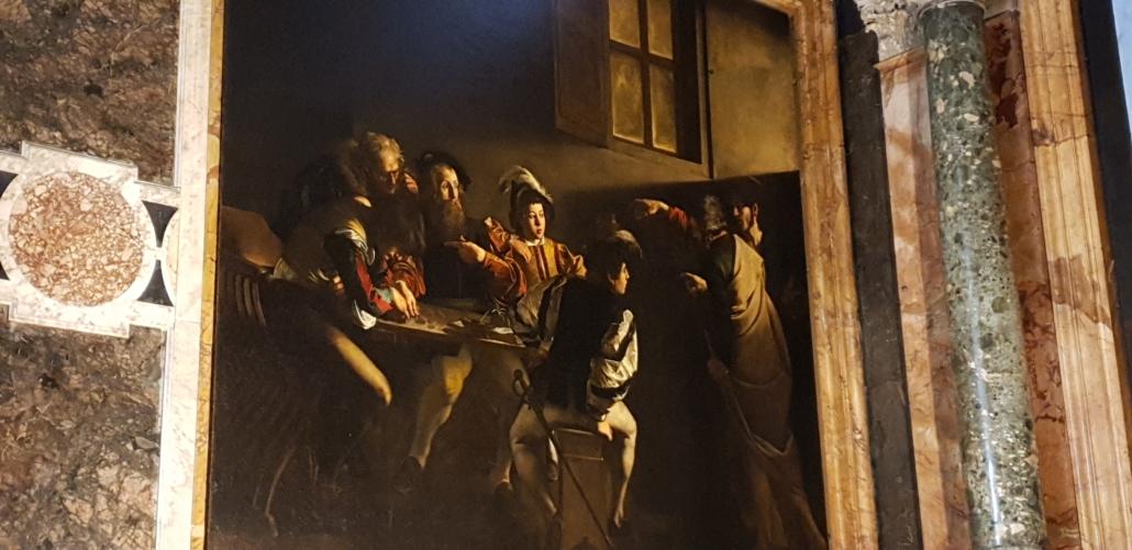 Rome Caravaggio San LUigi dei Francesi