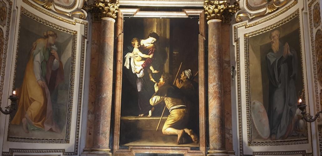 Rome Caravaggio at St Augustine Church