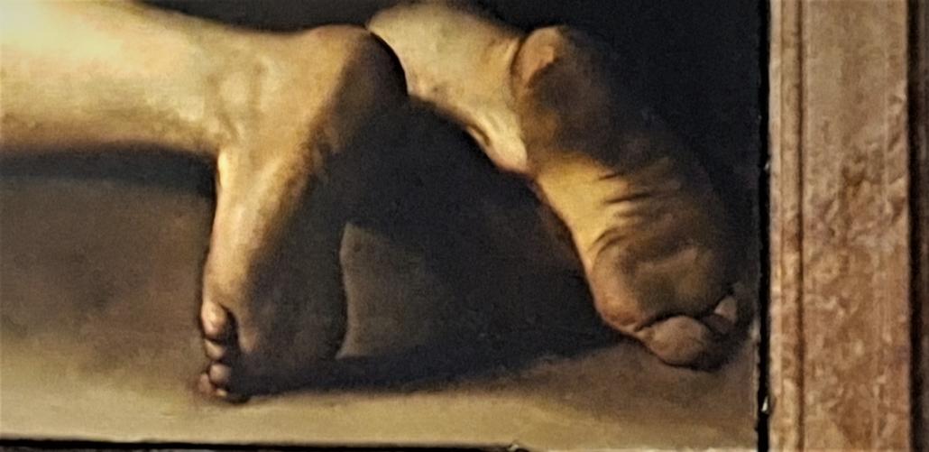 Rome Caravaggio dirty feet