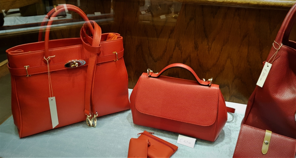 FLORENCE LEATHER RED BAGS